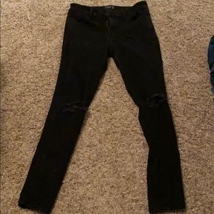 Abercrombie and Fitch Black ripped jeans